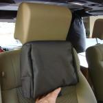 placing the headrest pad