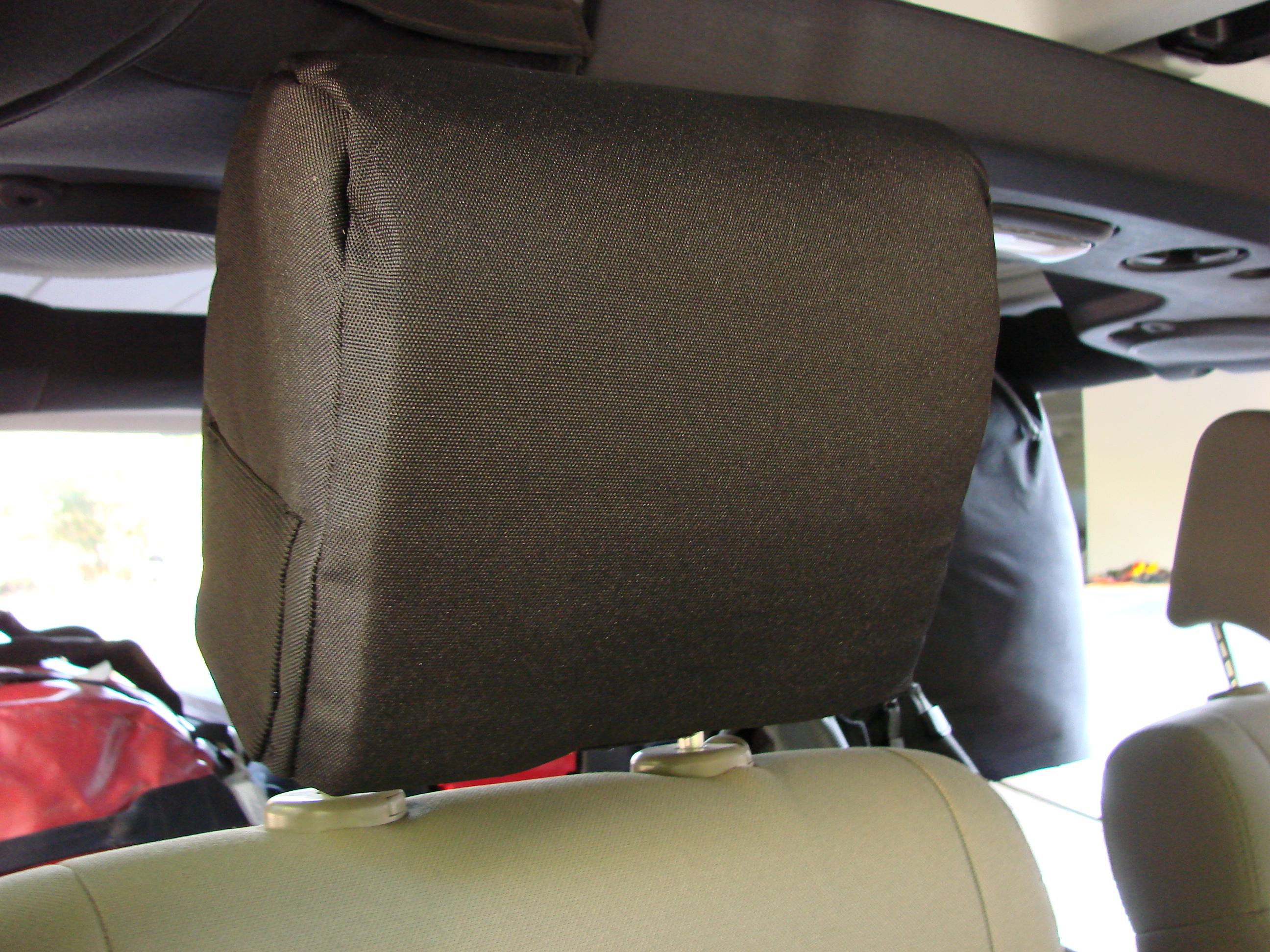 The Misch head rest pad installed